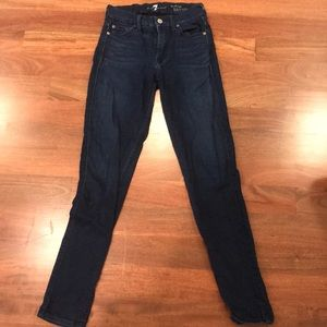 7for all mankind denim skinny jeans